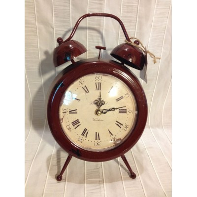 Horloge cadran rouge antique